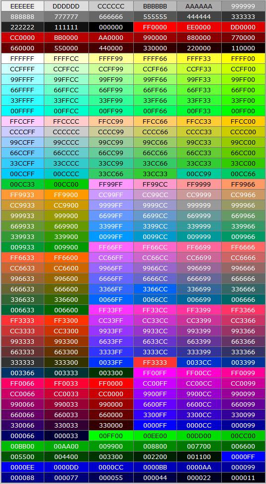 Color code цвета